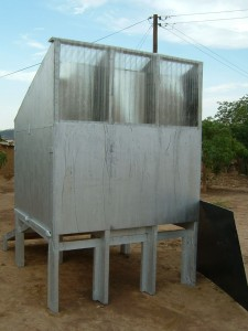 Small solar dryer used for drying carvings!