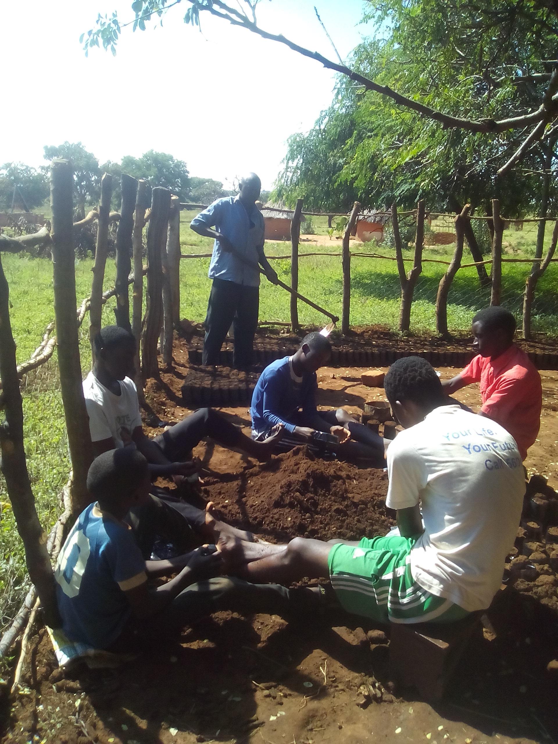 20170420 planting Mumbi nursery #2